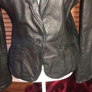 Jakett NY Jackets & Coats - Jakett New York Leather Blazer